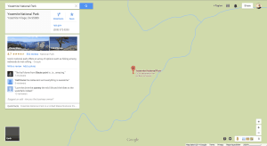 Yellowstone National Park on Google Maps