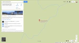 Yellowstone National Park on Google Maps