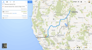 Cross Country Road Trip Routing with Google Maps