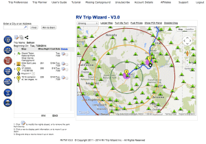 RV Trip Wizard is our Favorite Trip Planning App